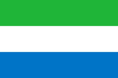 Sierra Leone national flag. Vector flag of Sierra Leone. Freetown Illusztráció