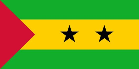 Vector flag of Sao Tome and Principe. Eps 10 Vector illustration. Sao Tome Ilustrace