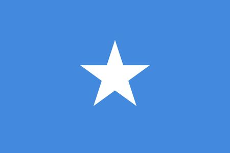 Vector flag of Somalia. Eps 10 Vector illustration. Mogadishu