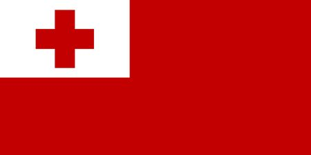 Vector flag of Tonga. Eps 10 Vector illustration. Nukualofa
