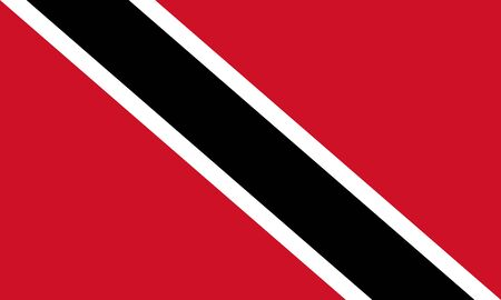 Vector flag of Trinidad and Tobago. Eps 10 Vector illustration. Port of Spain Ilustrace