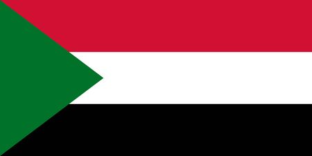 Vector flag of Sudan.Eps 10 Vector illustration. Khartoum