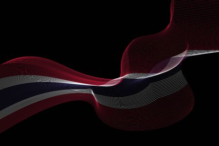 Abstract lines vector background. Colours of Thailand flag. Eps10. Ilustrace