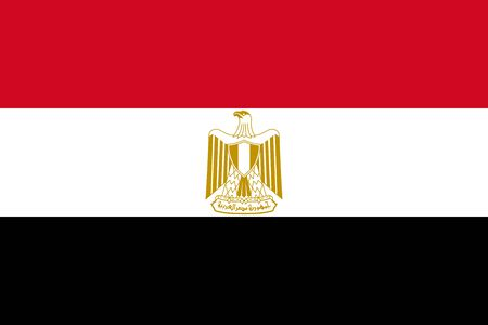 Vector flag of Egypt. Eps 10 Vector illustration. Egyptian flag. Cairo