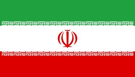 Vector flag of Iran. Eps 10 Vector illustration. Iranian flag. Tehran Ilustrace