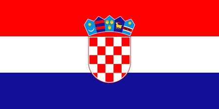 Vektorflagge von Kroatien. ENV 10 Vektorillustration. Kroatische Flagge. Zagreb. Hrvatska zastava
