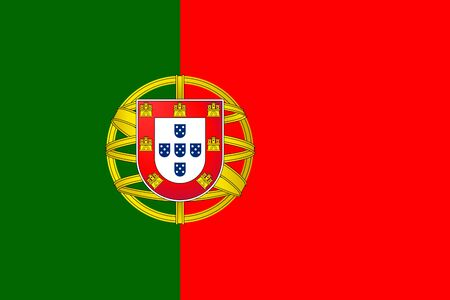 Vector flag of Portugal. Eps 10 Vector illustration. Portuguese flag. Lisboa Ilustrace
