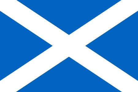 Vector flag of Scotland Eps 10 Vector illustration. The Saltire Ilustrace