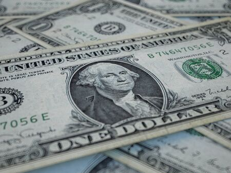 American currency background. Dollars of United States of America. US Dollars background 免版税图像