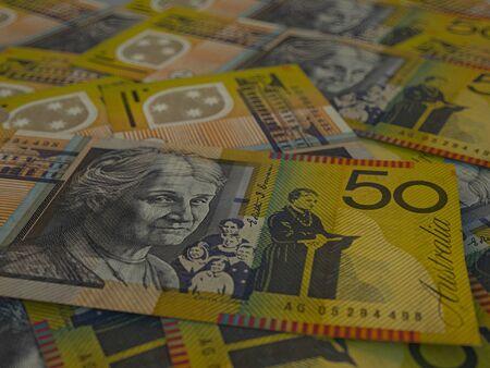 Money of Australia, background. Macro shot