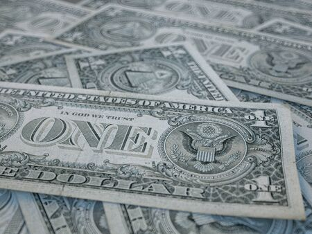 American currency background. Dollars of United States of America. US Dollars background