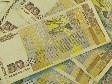 Money of Bulgaria. Bulgarian banknotes background