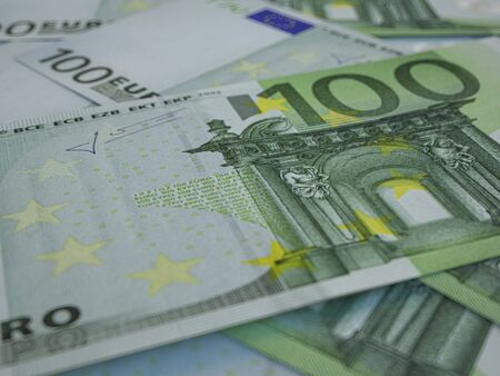 Euro banknotes background. Closeup high quality photo