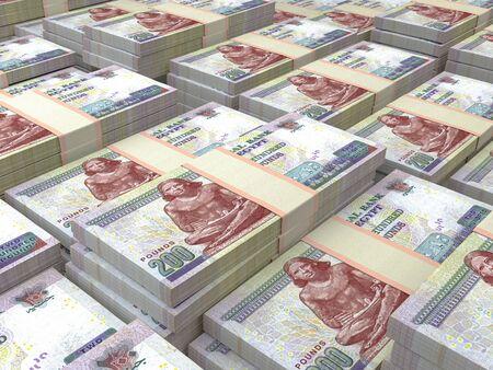 Egyptian pounds. Money of Egypt, business background. EGP. Closeup shot