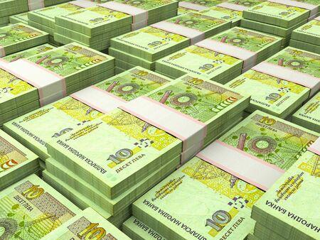 Money of Bulgaria. Bulgarian banknotes background Stock fotó