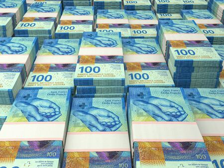 Currency of Switzerland. Finance background. Zurich. CHF. Swiss Franc.