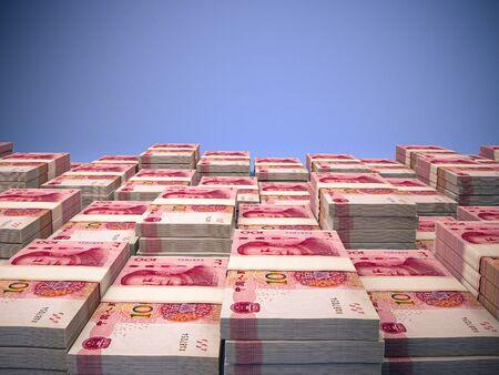 Money of China. Renminbi, yuan. One hundred Renminbi background. Made in China Reklamní fotografie