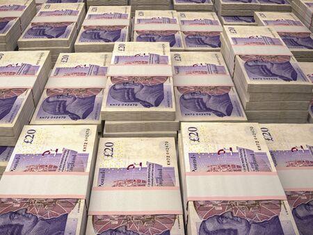 GBP. British Pounds macro background. Money of United Kingdom. London