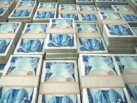 Japanese yen.The official currency of Japan. Financial background. JPY.  版權商用圖片
