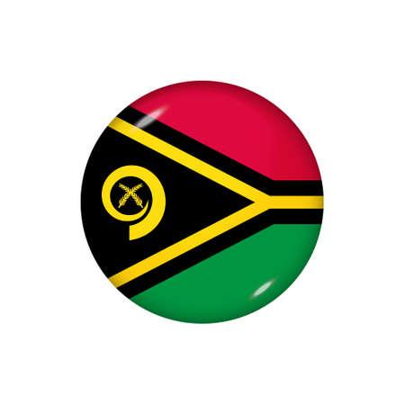 Icon flag of Vanuatu. Round glossy flag. Vector illustration. 矢量图像