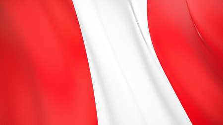 The waving flag of Peru. High quality 3D illustration. Perfect for news, reportage, events. Фото со стока