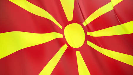 The waving flag of Macedonia. High quality 3D illustration. Perfect for news, reportage, events. Фото со стока