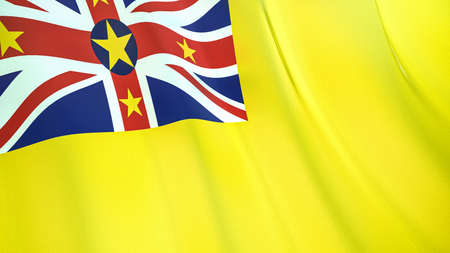 The waving flag of Niue. High quality 3D illustration. Perfect for news, reportage, events.