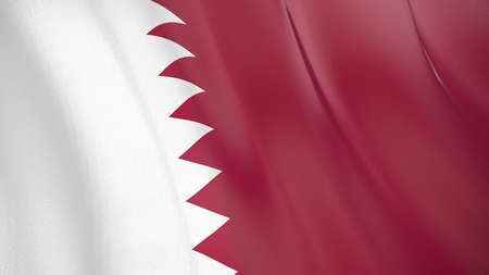 The waving flag of Qatar. High quality 3D illustration. Perfect for news, reportage, events.