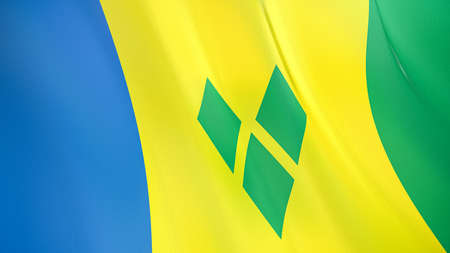 The waving flag of Saint Vincent and Grenadines. High quality 3D illustration. Perfect for news, reportage, events.