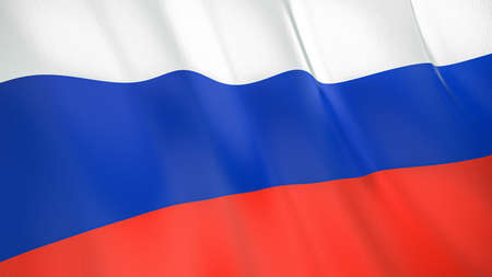 The waving flag of Russia. High quality 3D illustration. Perfect for news, reportage, events. Фото со стока