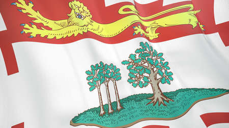 The waving flag of Prince Edward Island. High quality 3D illustration. Perfect for news, reportage, events.