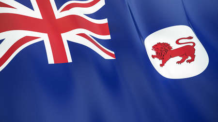 The waving flag of Tasmania. High quality 3D illustration. Perfect for news, reportage, events.