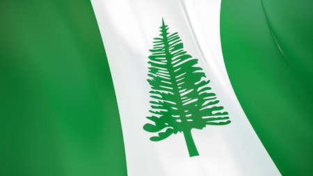 The waving flag of Norfolk Island. High quality 3D illustration. Perfect for news, reportage, events.
