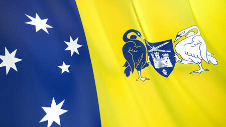 The waving flag of Australian Capital Territory. High quality 3D illustration. Perfect for news, reportage, events.