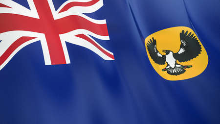 The waving flag of South Australia. High quality 3D illustration. Perfect for news, reportage, events. Фото со стока