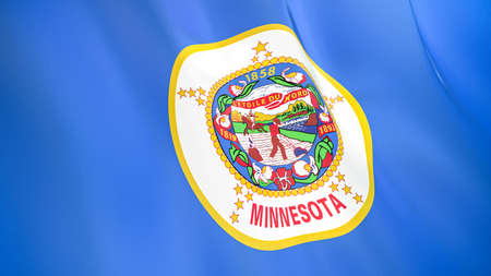 The waving flag of Minnesota. High quality 3D illustration. Perfect for news, reportage, events.