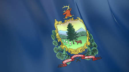 The waving flag of Vermont. High quality 3D illustration. Perfect for news, reportage, events.