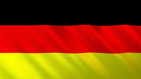 The waving flag of Germany. High quality 3D illustration. Perfect for news, reportage, events. Banque d'images