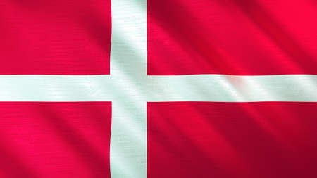The waving flag of Denmark. High quality 3D illustration. Perfect for news, reportage, events.