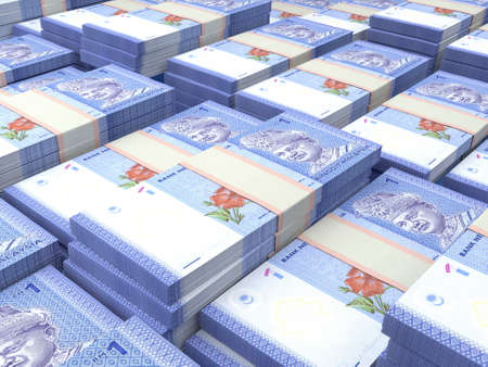 Money of Malaysia. Malaysian ringgit bills. MYR banknotes. 1 ringgits. Business, finance, news background.