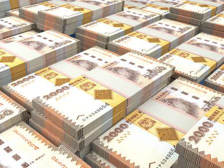 Money of Tanzania. Tanzania shilling bills. TZS banknotes. 2000 shillings. Business, finance, news background.