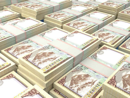 Money of Nepal. Nepalese rupee bills. NPR banknotes. 10 Rs. Business, finance, news background.