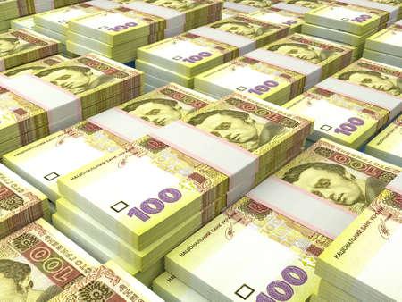 Money of Ukraine. Ukrainian hryvnia bills. UAH banknotes. 100 hryvni. Business, finance, news background. 免版税图像