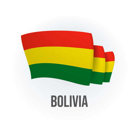 Vector flag of Bolivia. Bolivian waving flag. Vector illustration. Vector Illustration