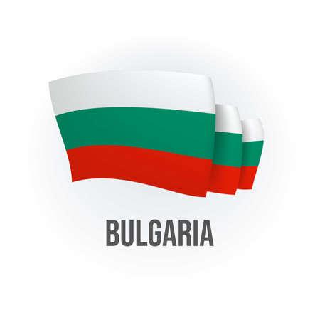 Vector flag of Bulgaria. Bulgarian waving flag. Vector illustration.
