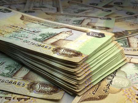 Money of United Arab Emirates. United Arab Emirates dirham bills. AED banknotes. 1000 dirhams. Business, finance, news background. 免版税图像