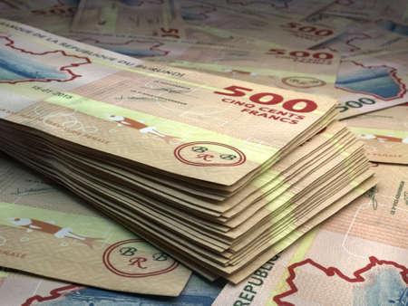Money of Burundi. Burundian franc bills. BIF banknotes. 500 francs. Business, finance, news background.