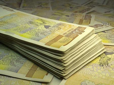 Money of Bulgaria. Bulgarian lev bills. BGN banknotes. 50 levove. Business, finance, news background. Stock fotó