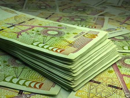 Money of Bulgaria. Bulgarian lev bills. BGN banknotes. 10 levove. Business, finance, news background. 免版税图像