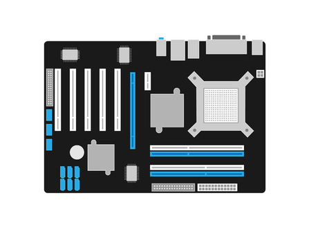 pcb: Motherboard on a black PCB